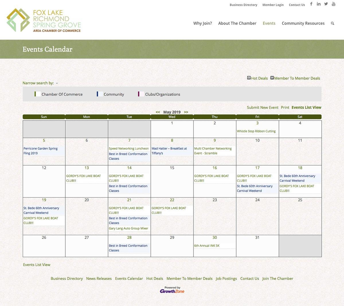 FLRSG Calendar