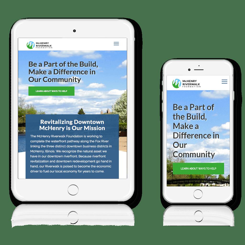 McHenry Riverwalk Foundation responsive layout